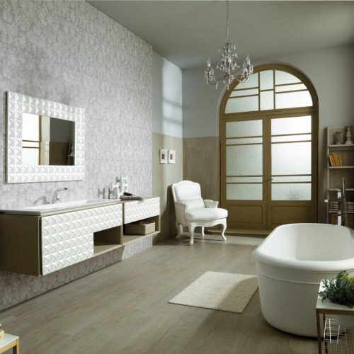 Satariano-Bathrooms-Gamadecor-Contemporary-beige-textured-storage-unit