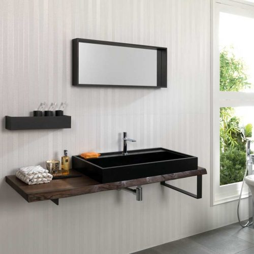 Satariano-Bathrooms-Gamadecor-Contemporary-brown-marble-under-sink-and-black-sink