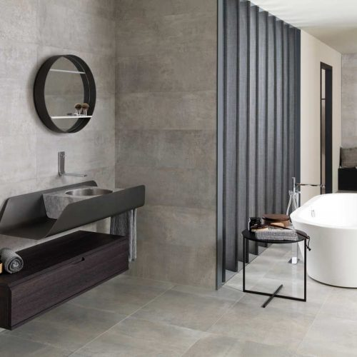 Satariano-Bathrooms-Gamadecor-Contemporary-dark-brown-storage-unit-with-grey-metal-under-sink-and-marble-grey-sink