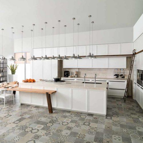 Satariano-Floor-and-Wall-Porcelanosa-Contemporary-grey-mosiac-design-flooring