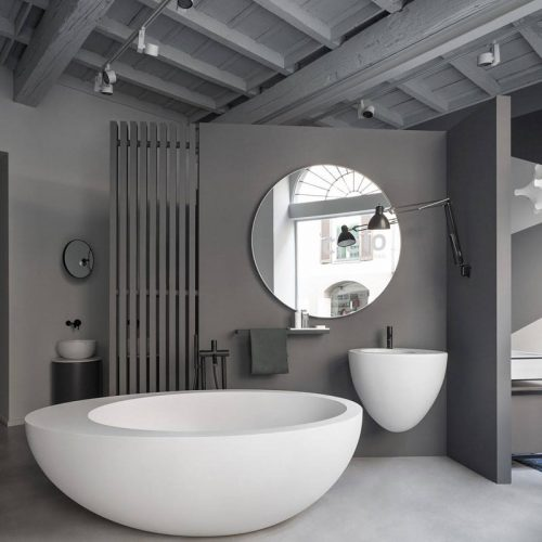 Satariano-Bathroom-Cielo-Classic-design-open-bathroom-with-an-oval-bath-and-round-sink