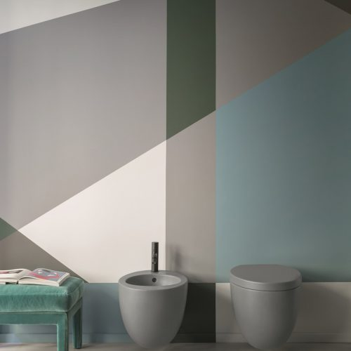 Satariano-Bathroom-Cielo-Contemporary-design-bathroom-with-a-round-toilet-and-a-round-bidet