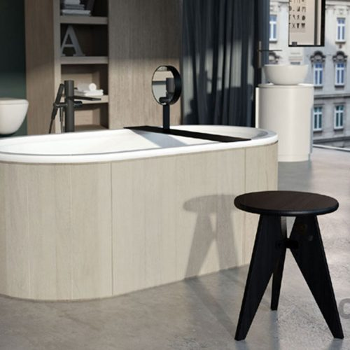 Satariano-Bathroom-Cielo-Contemporary-design-oval-bath-with-a-mirror(2)
