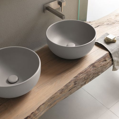 Satariano-Bathroom-Cielo-Contemporary-design-two-round-sinks