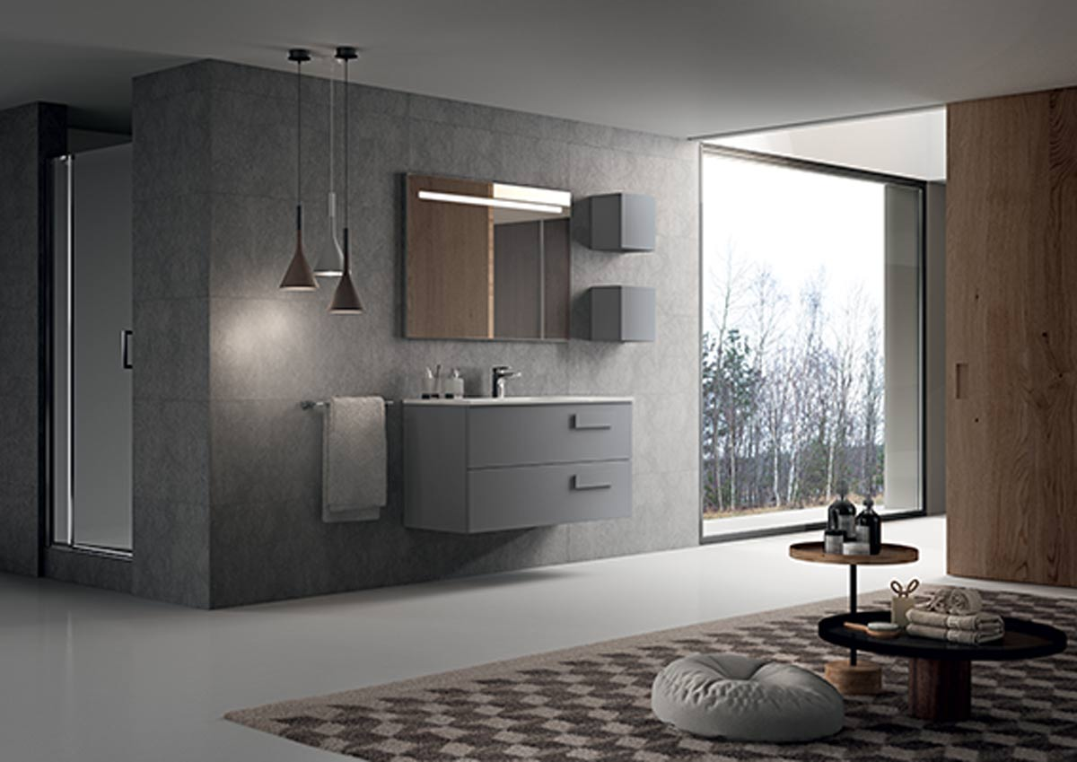 Satariano Bathrooms Inda Contemporary Sink With Free Standing Storage Units In Bedroom 2