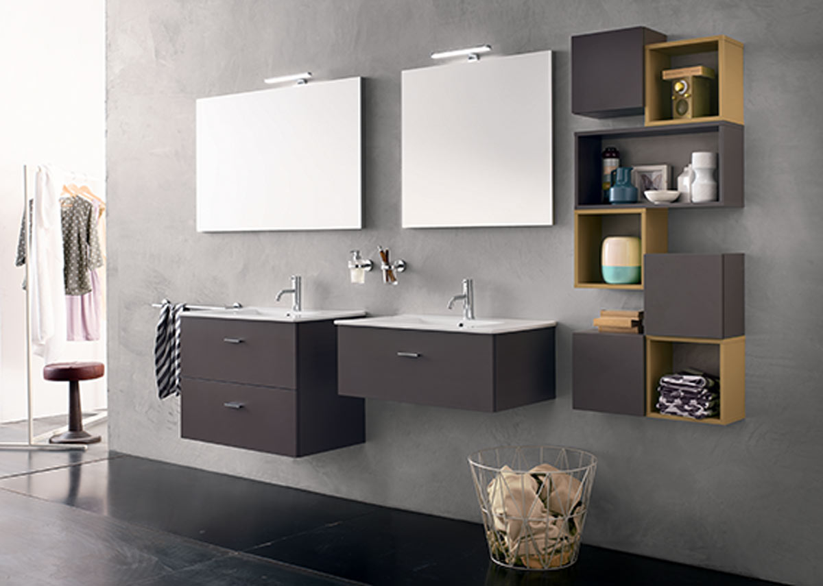 Satariano Bathrooms Inda Modern His And Hers Floating Sinks With