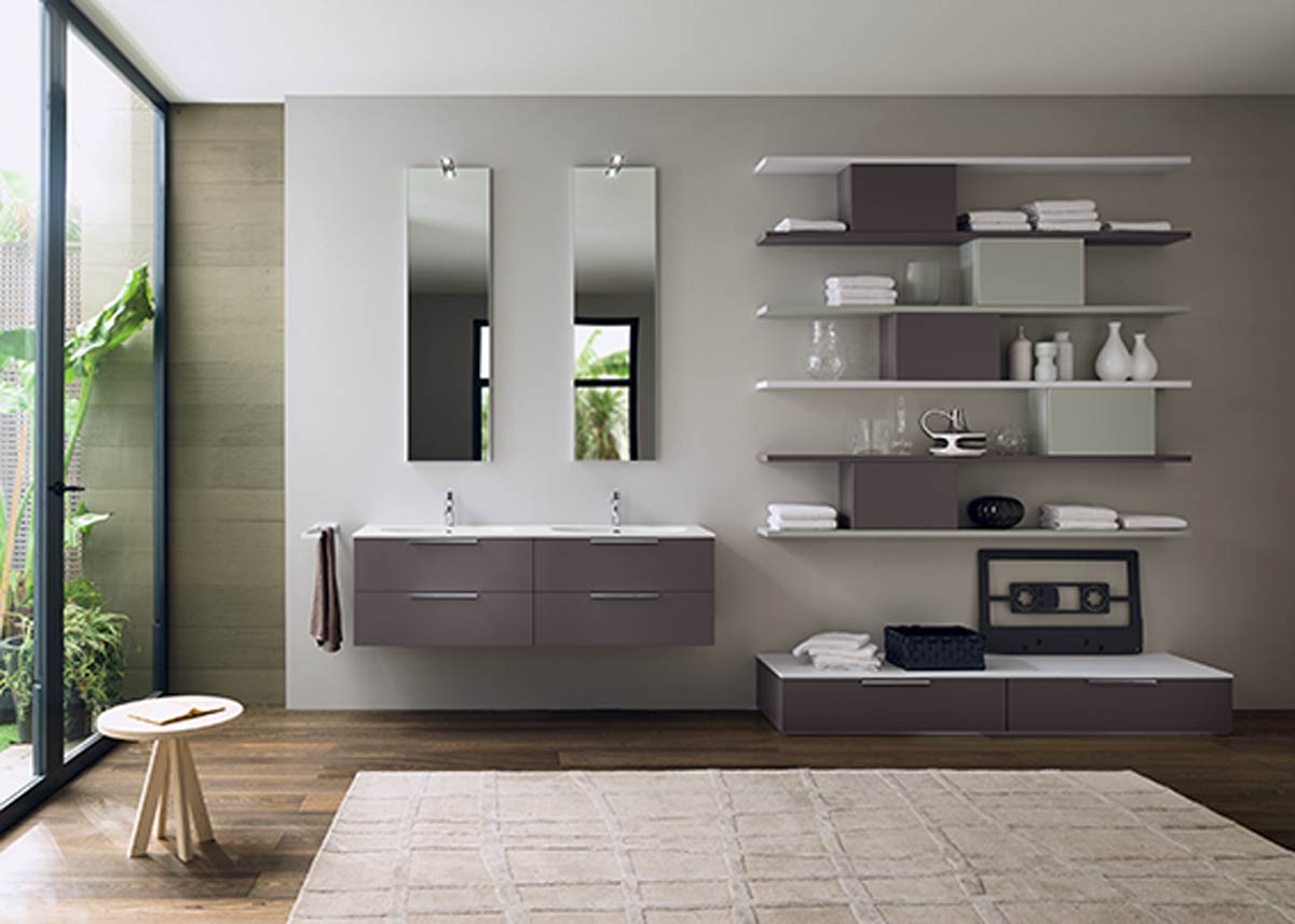 Satariano Bathrooms Inda Modern His And Hers Sinks With Rectangular