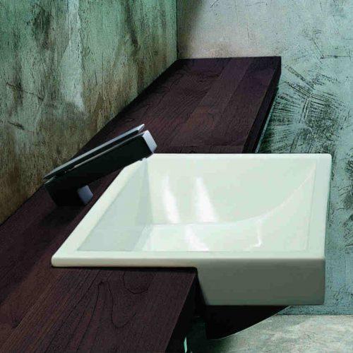 Satariano Bathrooms Mamoli Classic dark brown wooden sink surrounding