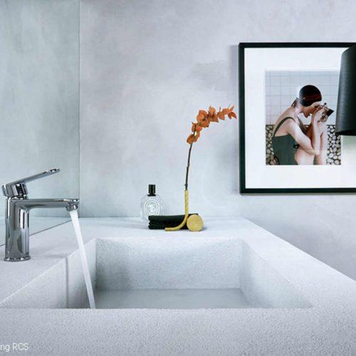 Satariano Bathrooms Mamoli Classic large grey shade rectangular sink