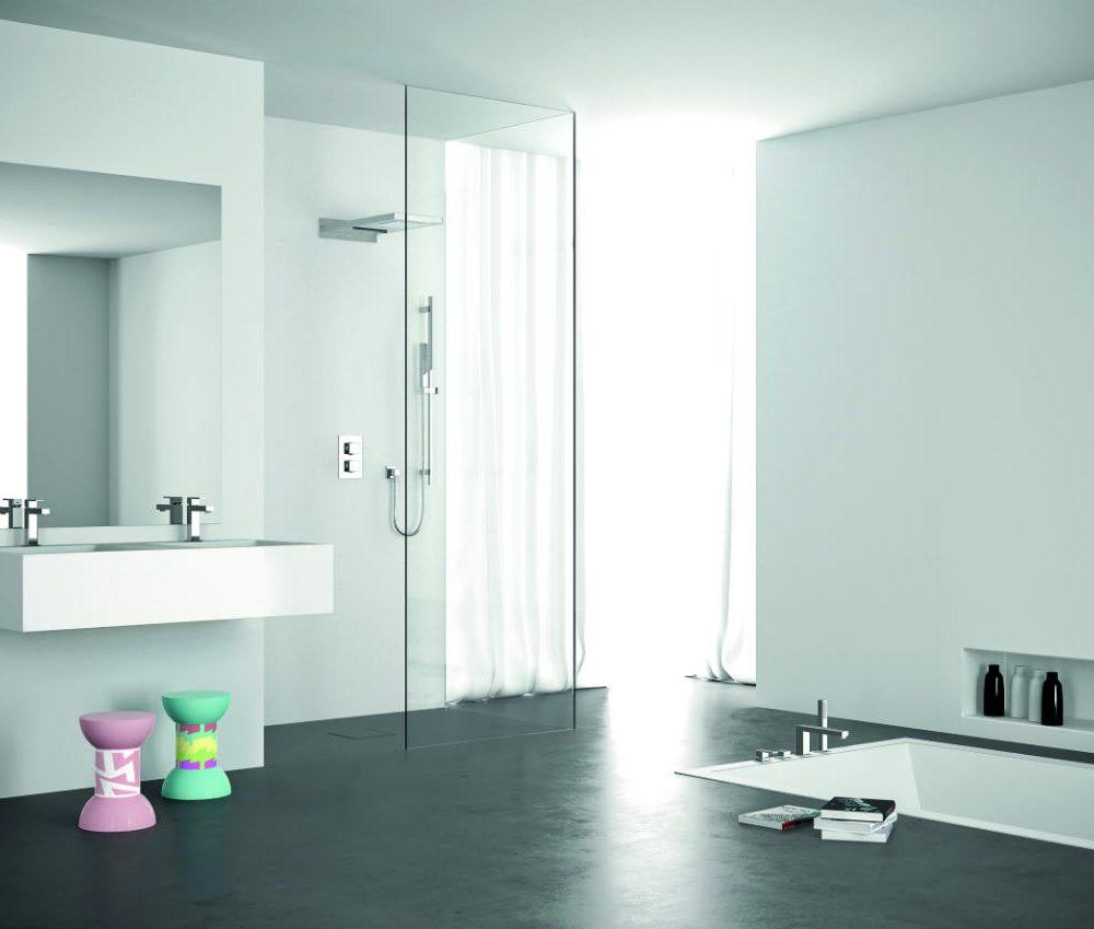 Satariano Bathrooms Mamoli Contemporary bath inside floor