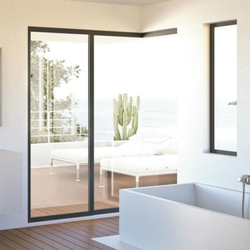 Satariano Bathrooms Mamoli Contemporary rectangular bath and square pull out storage baskets