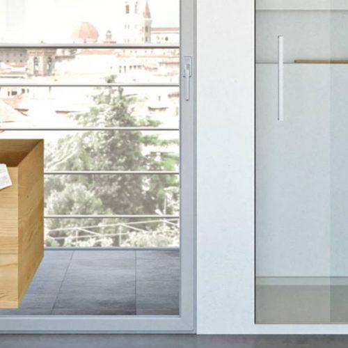 Satariano Bathrooms Mamoli Modern large square wooden shade sink