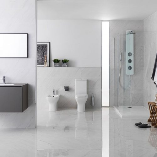 Satariano-Bathrooms-Urbatek-Classic-light-high-gloss-tiling-and-charcoal-sink-and-storage