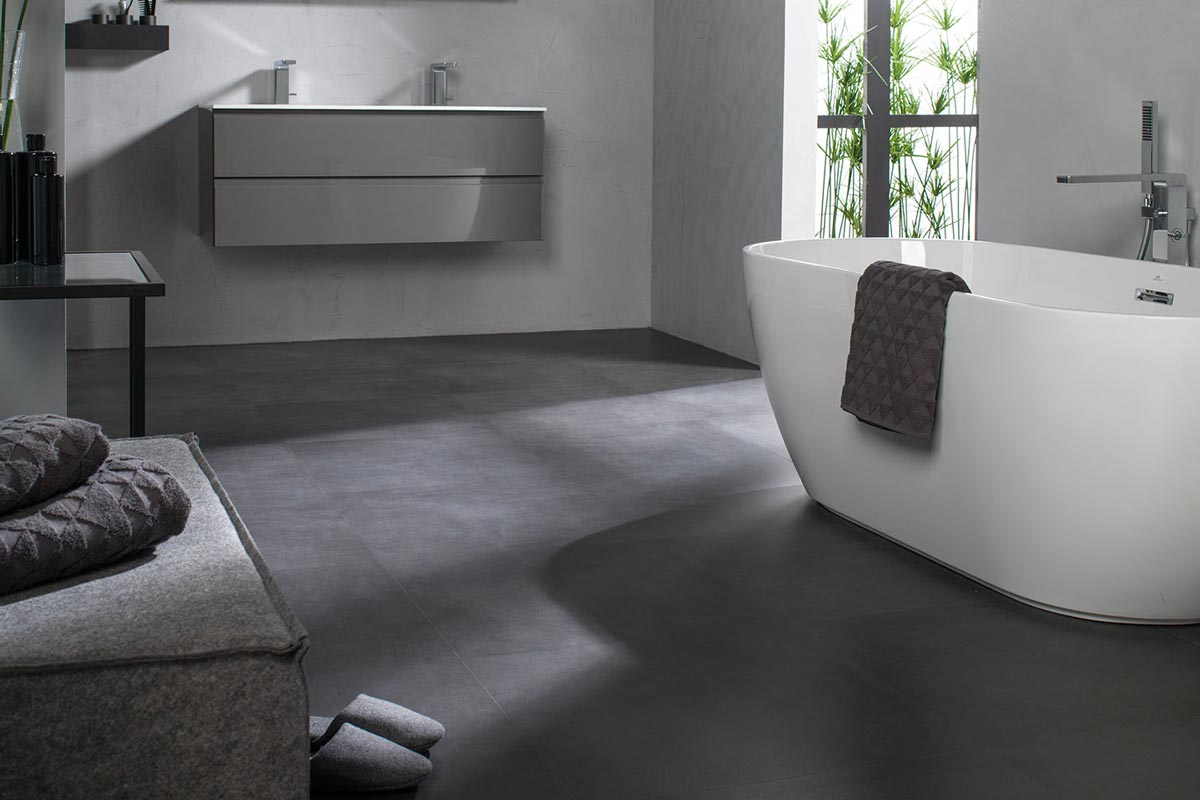 Satariano-Bathrooms-Urbatek-Contemporary-charcoal-tiling-and-white-large-bath