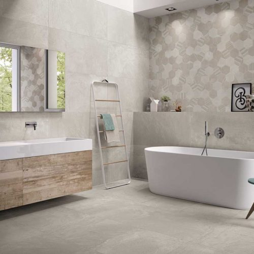 Satariano-Bathrooms-Viva-Contemporary-soft-grey-toned-with-white-sanitaryware