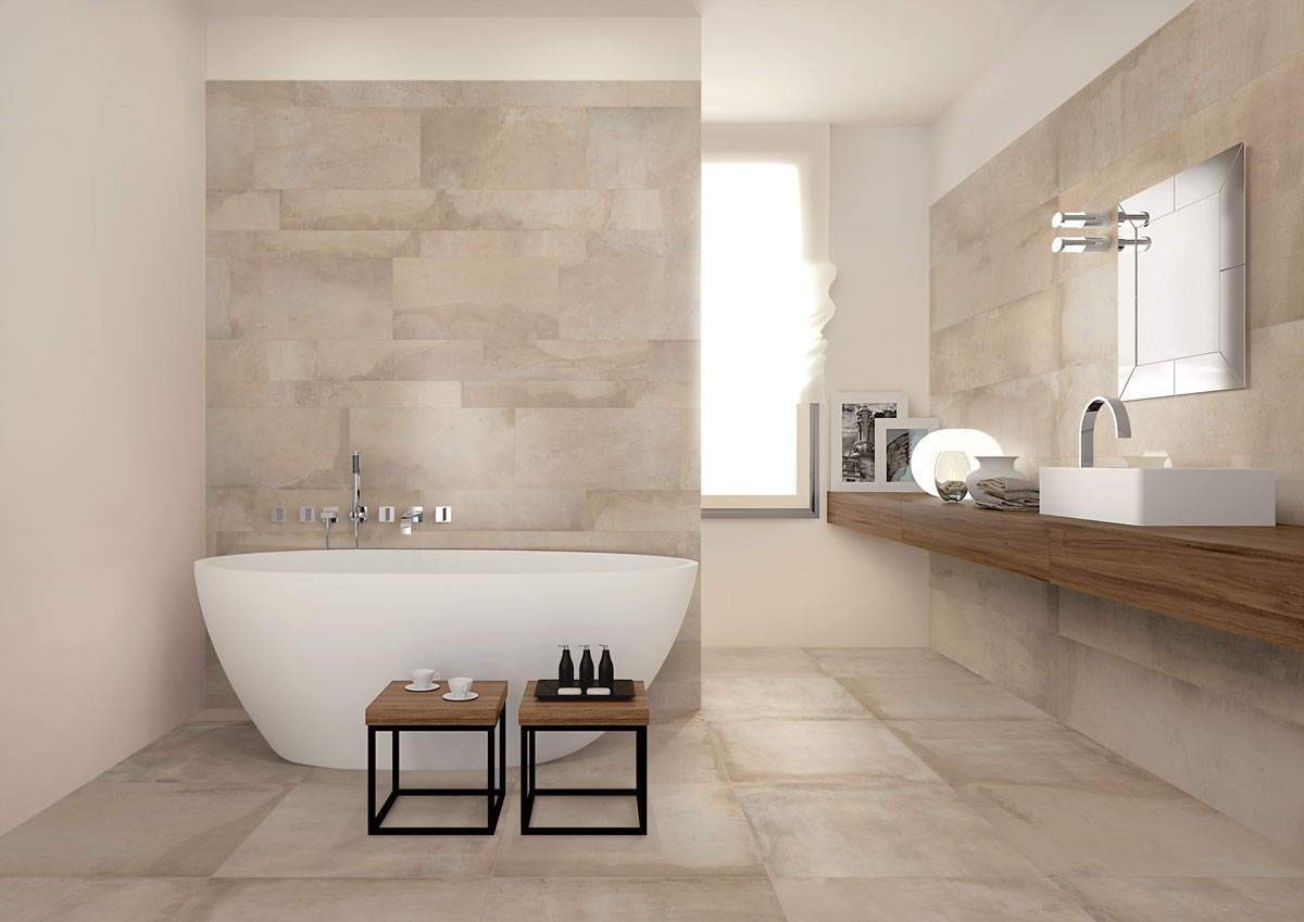 Satariano-Bathrooms-Viva-Modern-beige-toned-with-large-oval-bath