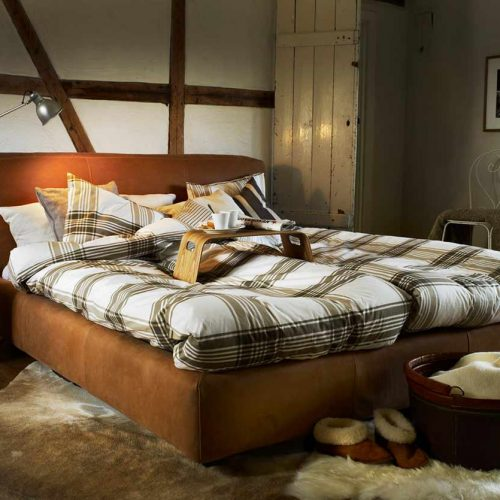 Satariano-Bedrooms-Contemporary-Furinova-large-brown-padded-bed