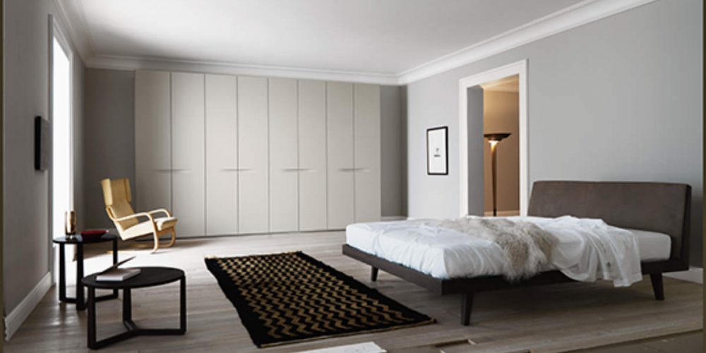 Satariano-Bedrooms-San-Giacomo-Classic-double-bed-dark-brown-ceiling-to-floor-wardrobe