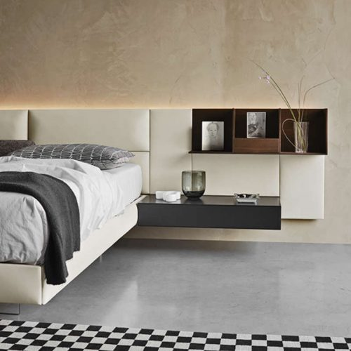 Satariano-Bedrooms-San-Giacomo-Contemporary-beige-bed-back-and-nightstand-freestanding