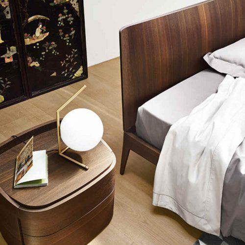 Satariano-Bedrooms-San-Giacomo-Contemporary-circular-wooden-nightstand