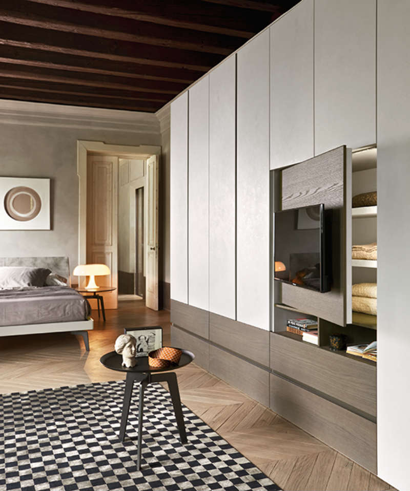 Satariano-Bedrooms-San-Giacomo-Modern-wardrobe-slideout-tv ...