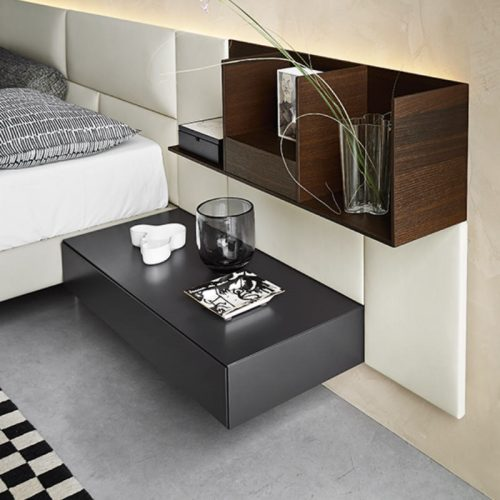 Satariano-Bedrooms-San-Giacomo-Modern-white-leather-and-grey-and-dark-wood-bed-headrest