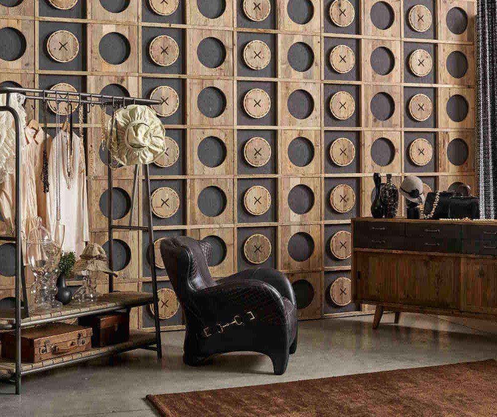 Satariano Dialma Brown Bedroom Contemporary Feature Wall