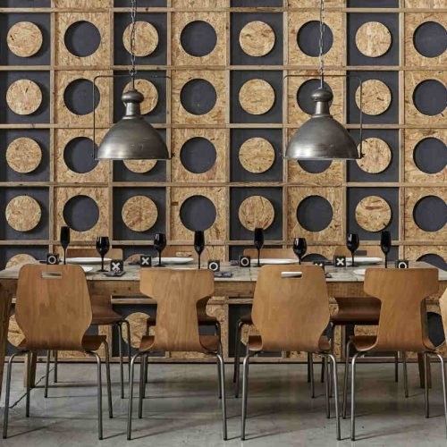 Satariano-Dialma-Brown-Dining-table-contemporary-design-feature-wall