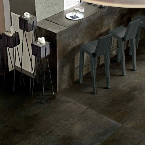 Satariano Floors and Walls Floor Gres Modern dark brown textured floor