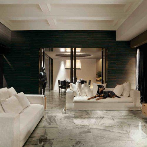 Satariano Floors and Walls Rex Classic marble light floor dark walls