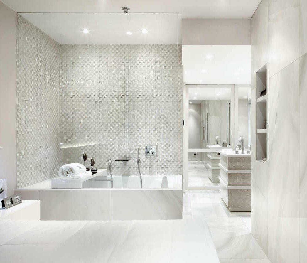 Satariano Floors and Walls Rex Classic white marble wall and floor