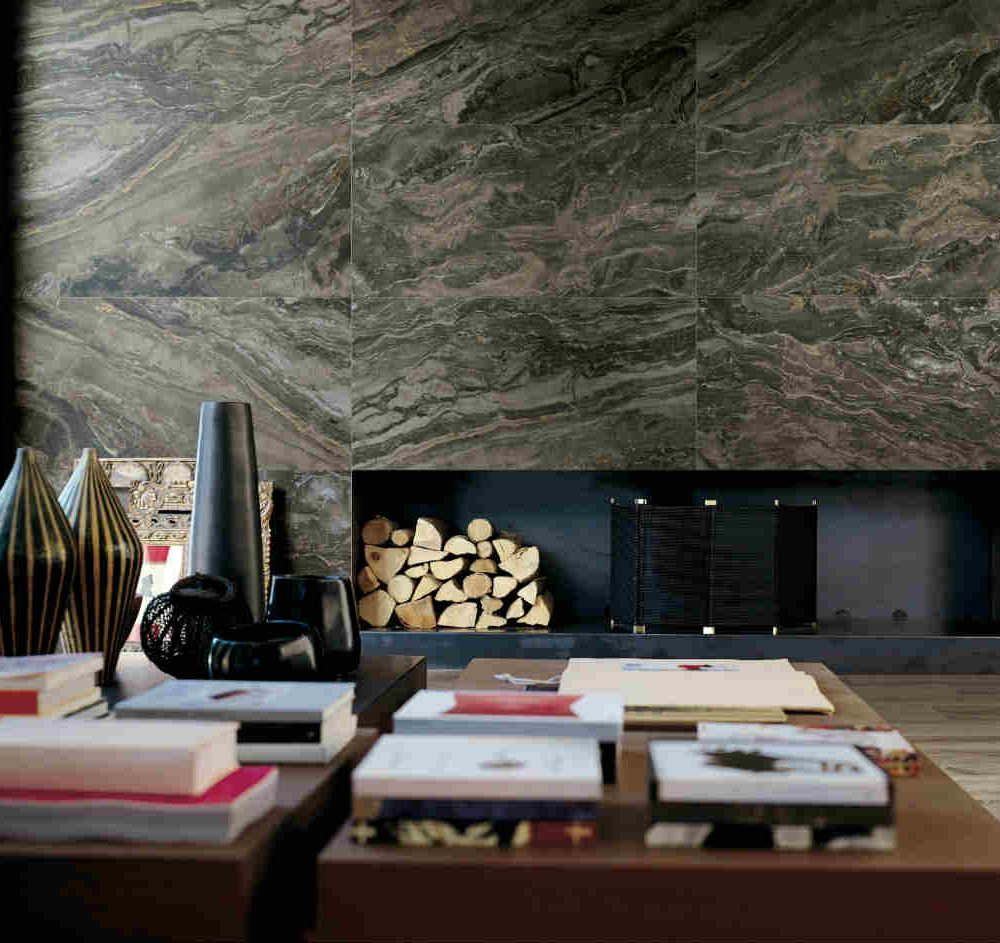 Satariano Floors and Walls Rex Contemporary dark textured marble wall