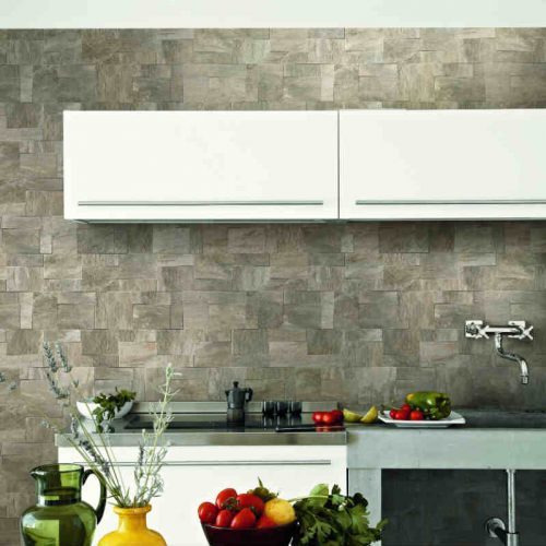 Satariano Floors and Walls Rex Contemporary grey square wall feature