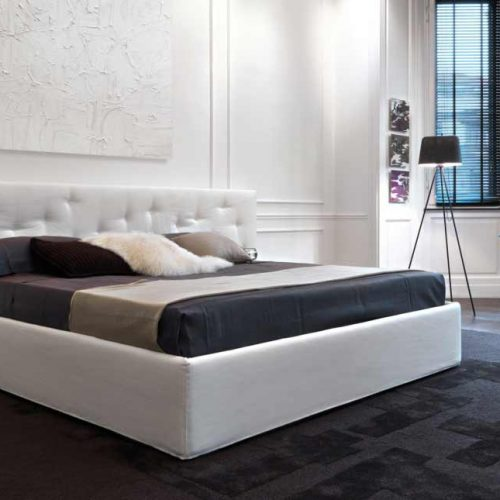 Satariano-Furniture-Desiree-Beds-Classic-white-double-bed-with-oversized-backframe