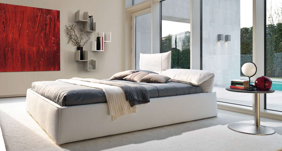 Satariano Furniture Desiree Beds Modern Large Bed Frame Bottom With