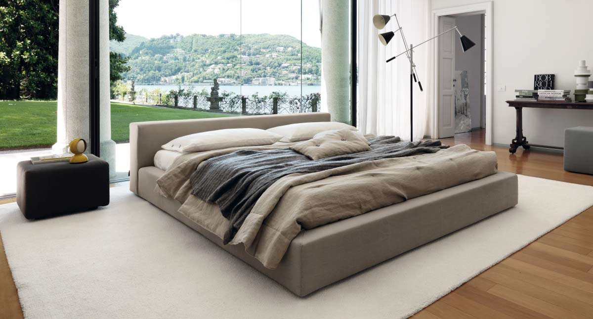 Satariano Furniture Desiree Beds Modern Low Doublebed With Large Bed