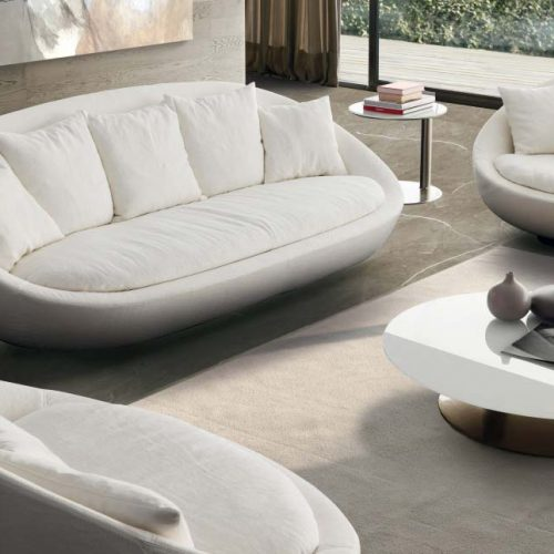 Satariano-Furniture-Desiree-Sofas-Contemporary-circular-sofa-and-two-armchairs-white