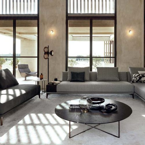 Satariano-Furniture-Desiree-Sofas-Contemporary-dark-grey-sofa-and-light-grey-textured-sofa