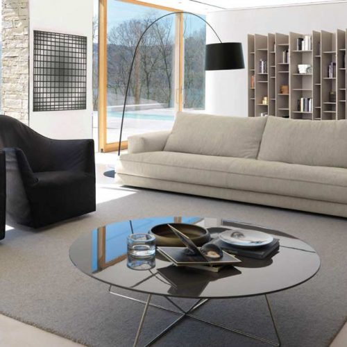 Satariano-Furniture-Desiree-Sofas-Modern-beige-sofa-and-two-black-armchairs