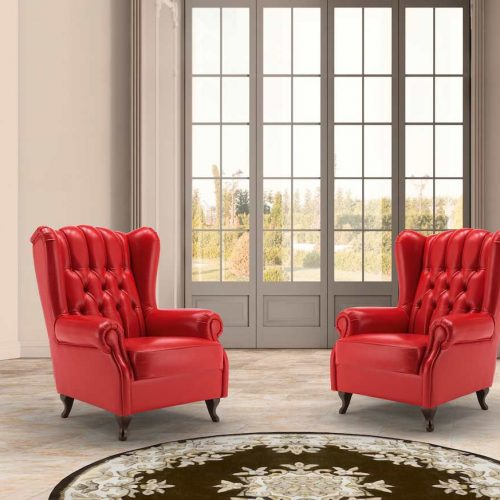 Satariano-Furniture-Fdesign-Sofas-Classic-two-red-leather-armchairs