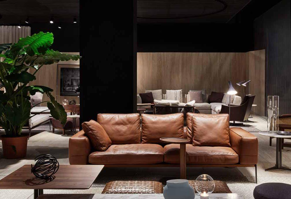 Satariano-Furniture-Flexform-Sofas-Modern-Sitting-brown-sofa