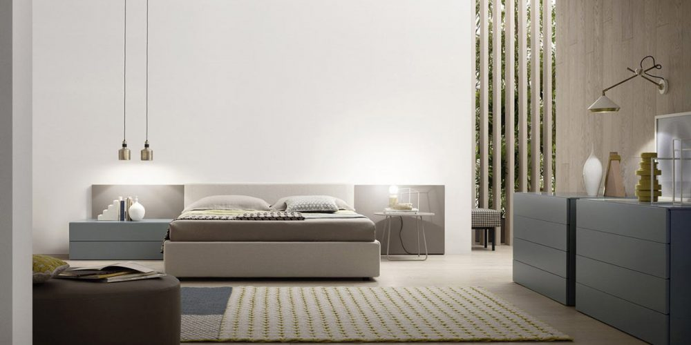 Satariano-Furniture-NovaMobili-Contemporary-beige-and-teal-bed