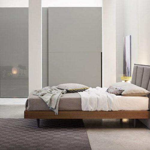 Satariano-Furniture-NovaMobili-Contemporary-brown-bed-and-grey-high-gloss-finish-on-wardrobe