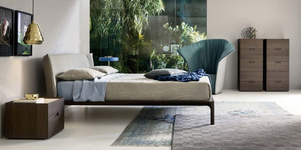 Satariano-Furniture-NovaMobili-Contemporary-brown-storage-units-and-beige-bed