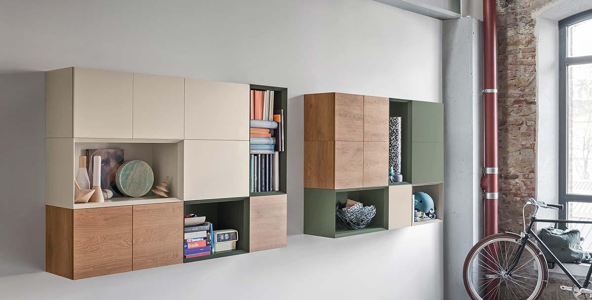 Satariano furniture novamobili modern living wall unit storage satariano - Novamobili living ...