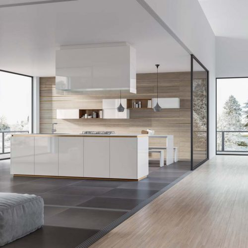 Satariano-Furniture-SCIC-Contemporary-Kitchen-open-plan-wooden-with-white-gloss-island