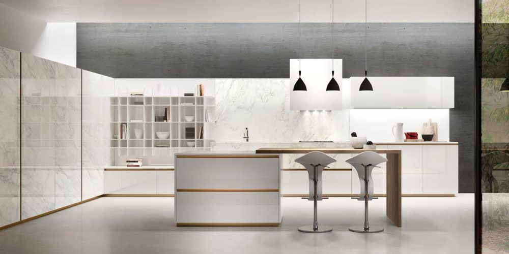 Satariano-Furniture-SCIC-Modern-Kitchen-open-plan-white-with-grey-and-cupboard-white-with-sand-wood