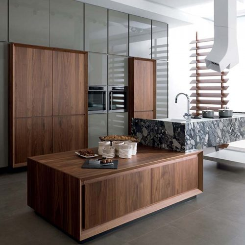 Satariano-Gamadecor-Kitchen-Contemporary-wood-and-grey-high-gloss-finish