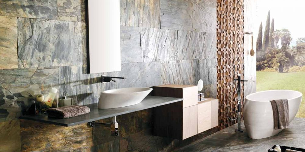 Satariano-L-Antic-Colonial-Bathroom-Contemporary-large-wall-tiling-and-detailed-wall-feature
