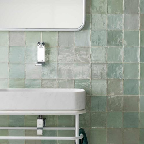 Satariano-L-Antic-Colonial-Bathroom-Contemporary-white-large-sink-and-green-tiling